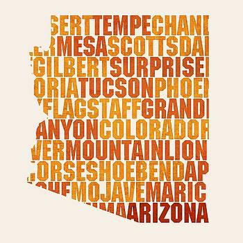 Design Turnpike - Arizona State Outline Word Map