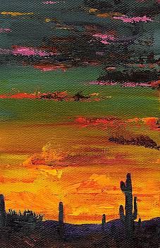 Arizona Sunset by Frances Marino