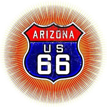 Peter Gumaer Ogden - Arizona U S 66 Starburst Sign