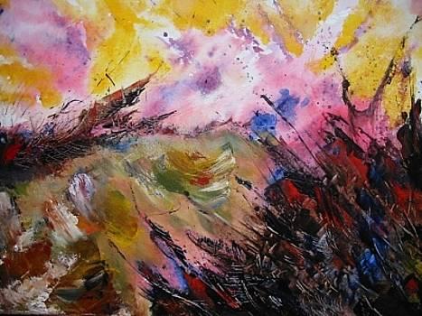 Arjuna Facing The Waves Of Distruction by Moray Watson