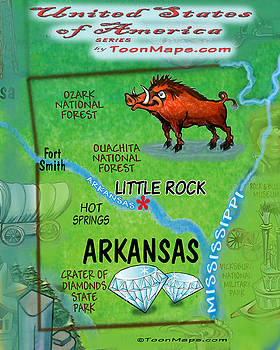 Kevin Middleton - Arkansas Fun Map