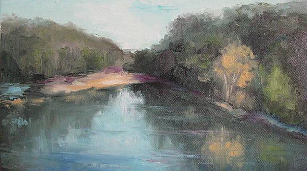 Arkansas River Scene by Sharon Franke