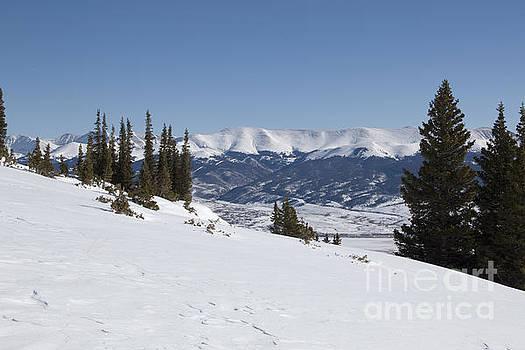 Steve Krull - Arkansas Valley from Mount Elbert Colorado in Winter
