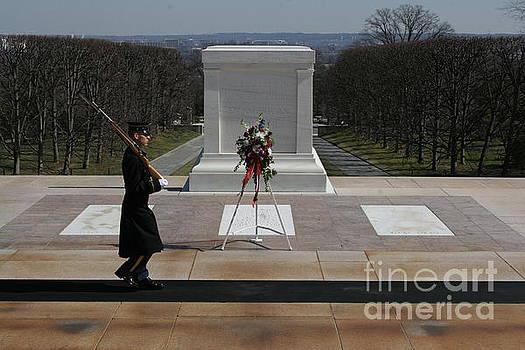 Arlington Cemetery Honor Guard wreath by April Sims