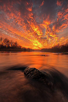 Fire on sky by Davorin Mance