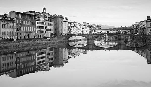 Richard Goodrich - Arno River Reflection, Florence, Italy