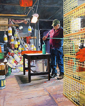 Arnold in his Shop by Lynne Schulte