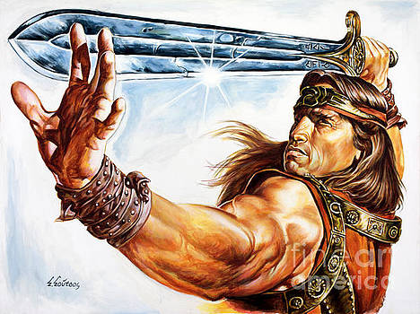 Arnold Schwarzenegger - Conan by Spiros Soutsos