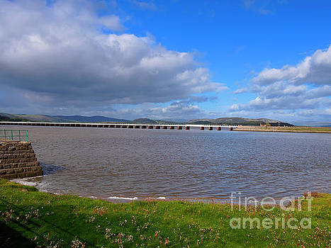 Arnside Viaduct and the Kent Estuary Cumbria by Louise Heusinkveld