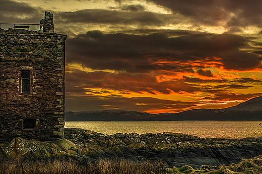 Arran Sunset From Portencross Castle by Tylie Duff