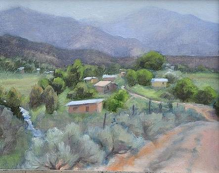 Arroyo Hondo early AM by Jane Grover