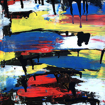 Art Abstract Painting Modern Black by Robert R Splashy Art Abstract Paintings
