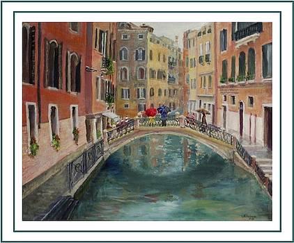 Art Card - Umbrellas in Venice by Harriett Masterson