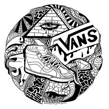 Art Circle Vans by Kenal Louis