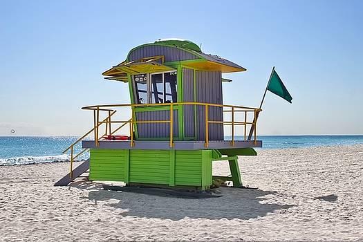 Art Deco 12th Street Lifeguard Station - South Beach by Chrystyne Novack