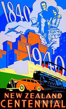 Peter Gumaer Ogden - Art Deco 1940 New Zealand Centennial Poster