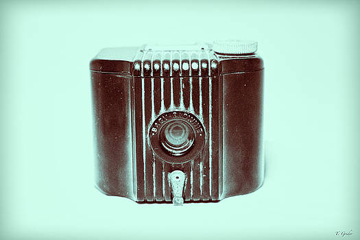 Art Deco Baby Brownie Blue Camera by Tony Grider