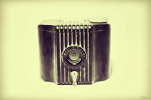 Art Deco Baby Brownie Yellow Camera by Tony Grider