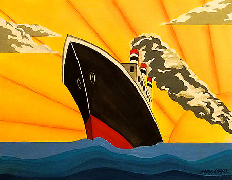 Art Deco Boat by Emma Childs