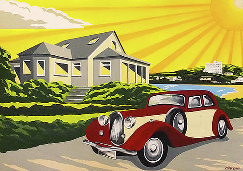 Art Deco Burgh Island by Emma Childs