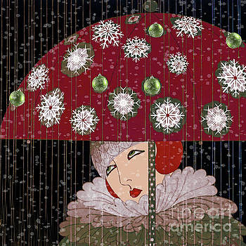 Art Deco Christmas Girl by Mindy Sommers