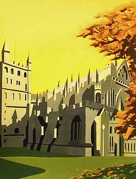 Art Deco Exeter Cathedral by Emma Childs