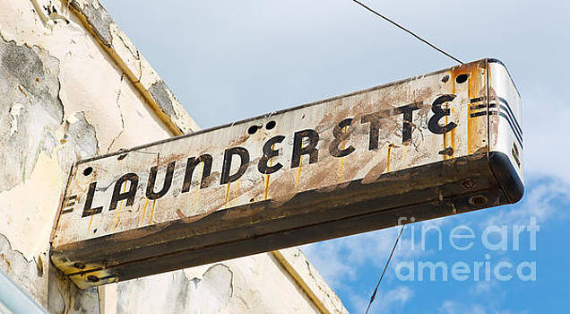 Art Deco Launderette Sign by ELITE IMAGE photography By Chad McDermott