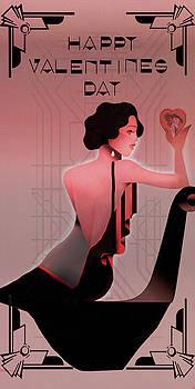 Art Deco Valentine Greeting by Jeff Burgess