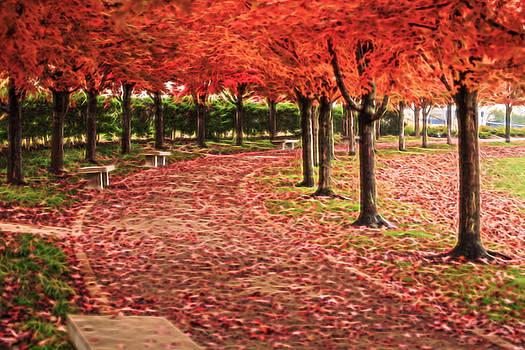 Art Hill Autumn Walk by Allen Ahner