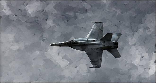 Art in Flight F-18 Fighter by Aaron Berg