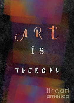 Art Is Therapy Motivational Quote by Justyna JBJart