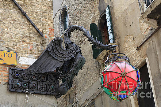Art Nouveau dragon in Marzaria Venice Italy by Louise Heusinkveld