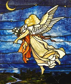 Peter Gumaer Ogden - Art Nouveau Guardian Angel Stained Glass circa 1895
