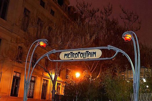 Art Block Collections - Art Nouveau Metro Entrance