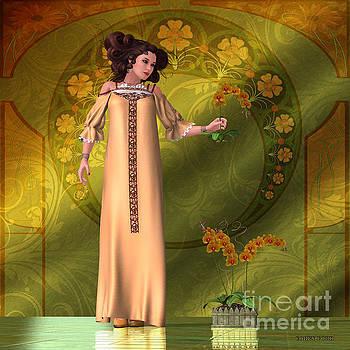 Corey Ford - Art Nouveau Woman - Orchids