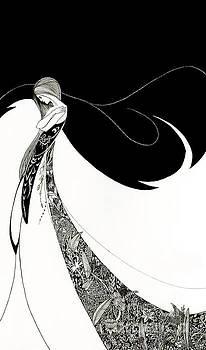 Tina Lavoie - Art Print Ballerina - Deco, Nouveau illustration of a woman dancer