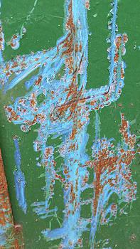 Art scraped into a trash bin by Zac AlleyWalker Lowing