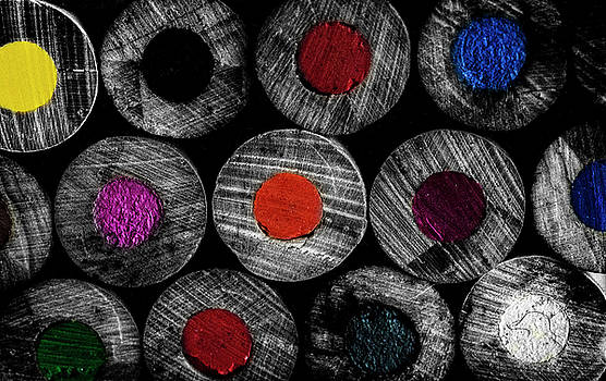 Art Supplies Black and White by Garvin Hunter