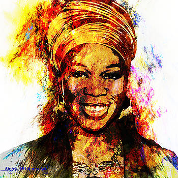 Art tribute to India Arie by Angela Holmes