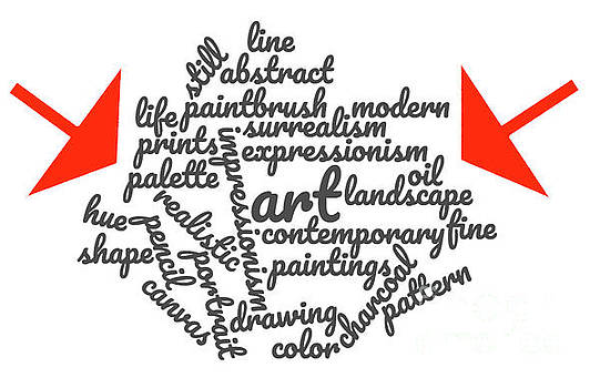 Art Word Cloud 1 by Karen Francis