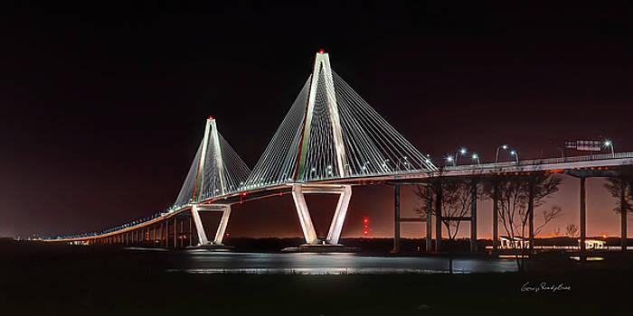 Arthur Ravenel Jr. Bridge at Midnight by George Randy Bass
