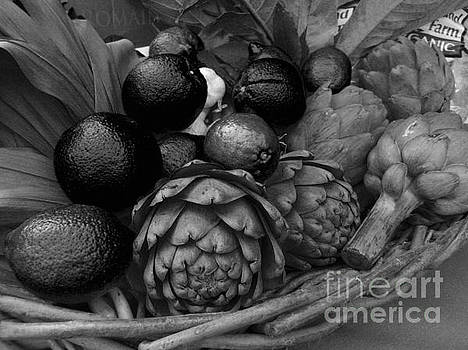 Artichokes With Black Lemons and Oranges by James B Toy