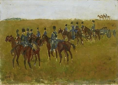 Artillery on Maneuver by George Hendrik Breitner