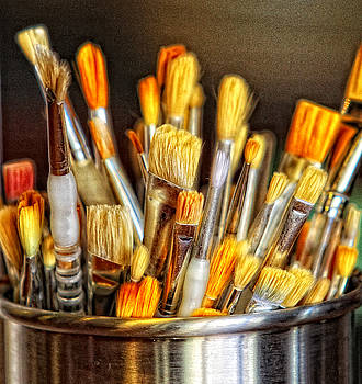 Artist Brushes by Earl Carter