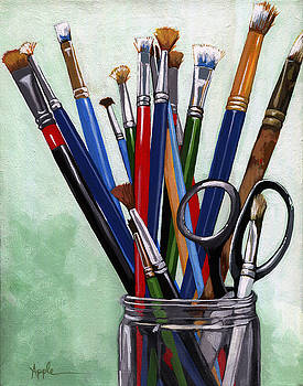Artist Brushes by Linda Apple