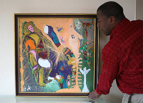 Artist Darrell Black with Dominions Creation of A New Millennium by Darrell Black