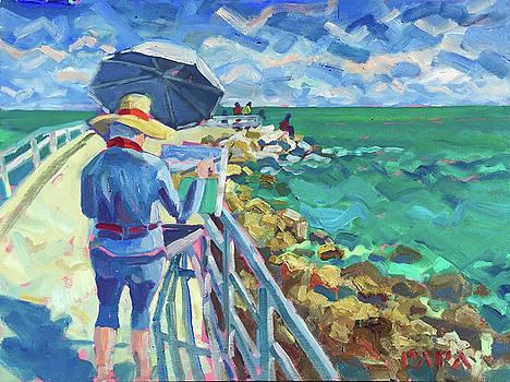 Artist Peer on Pier by Ralph Papa