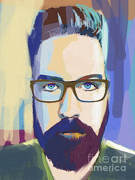 Self-portrait the artist with Glasses by John Castell