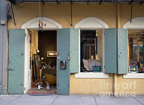 Artist studio and shop in the French Quarter of New Orleans by Louise Heusinkveld