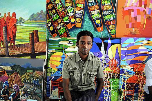 Artist, Yangon by Nate Stein